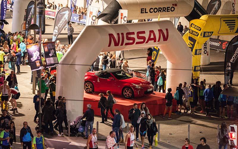 Coche oficial EDP Bilbao Night Marathon   Nissan Lejarza