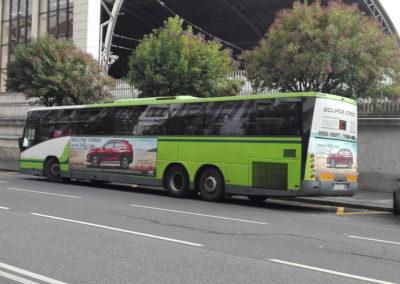 Campaña en autobuses Mitsubishi  | Grupo Lejarza