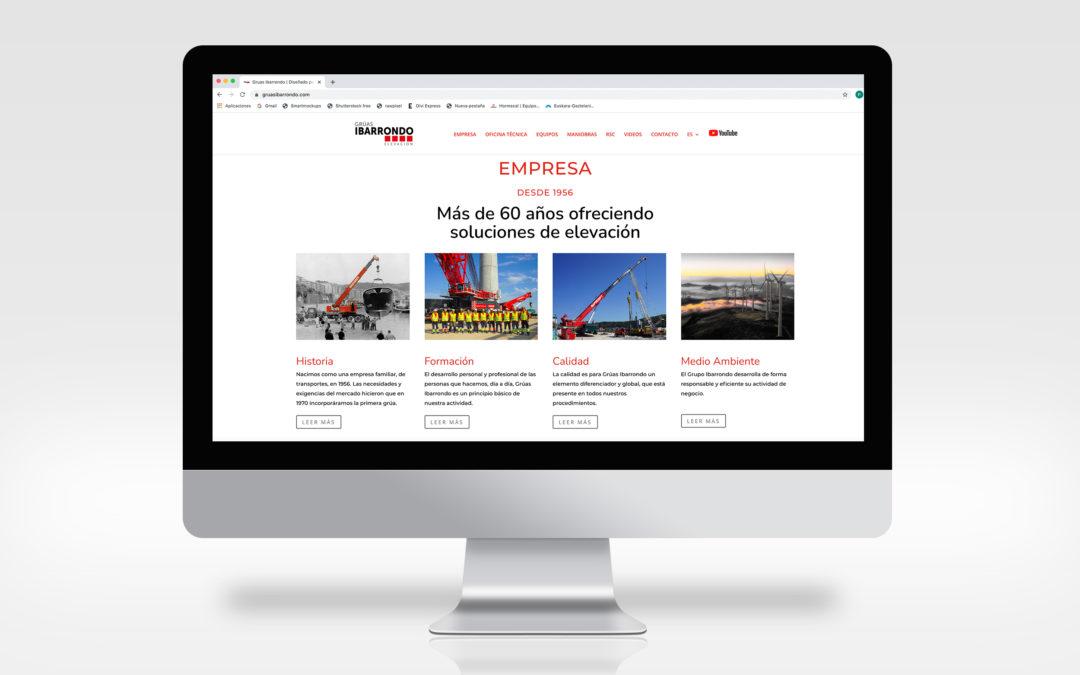 Web Corporativa | Grúas Ibarrondo